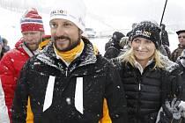 Norský korunní princ Haakon s manželkou Mette-Marit navštívili MS v klasickém lyžování v Oslu.
