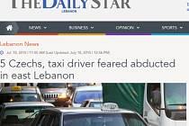 Článek libanonského listu The Daily Star.