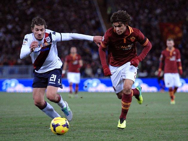 Zápas italské ligy Cagliari - AS Řím