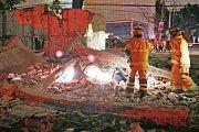 Následky silného zemětřesení v Mexiku.