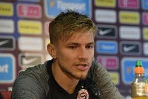 Fotbalista Martin Frýdek ze Sparty Praha (na snímku z 18. září 2019).