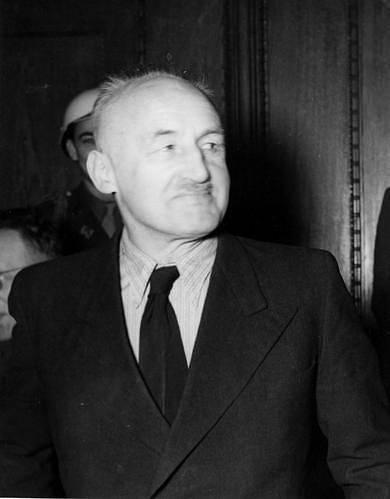 Julius Streicher během Norimberského procesu