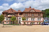 Památkově chráněný Jurkovičův dům v Luhačovicích
