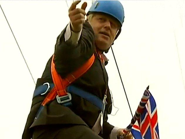 Excentrický starosta Londýna Boris Johnson.