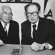 Arnošt Hájek a Miloš Hájek (vpravo)