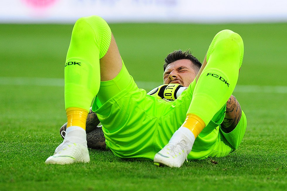 Fotbalové utkání 3. předkola Ligy mistrů mezi celky SK Slavia Praha a FK Dynamo Kyjev 7. srpna v Praze. Denys Bojko.