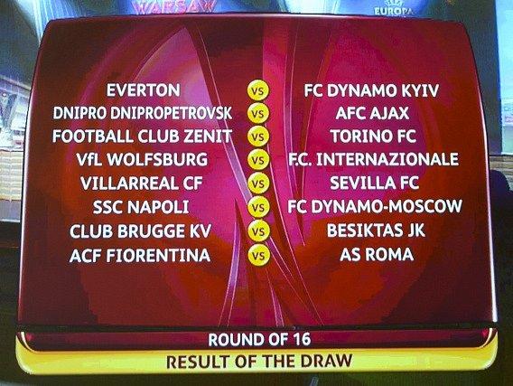 Tak vypadá los osmifinále Evropské ligy