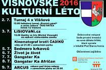 Višňovské kulturní léto 2. 7. až 10. 7. 2016