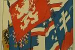 Český lev byl zásadní součástí symboliky československých legií, bojujících během 1. světové války za vznik nezávislého Československa