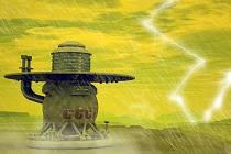 Vesmírná sonda Veněra 1 na povrchu planety Venuše (umělecká představa)