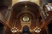 Španělská synagoga 2. března v Praze.