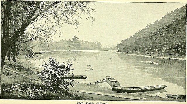 Kanadská řeka Richelieu, do níž se z mostu zřítil vlak, na dobové ilustraci