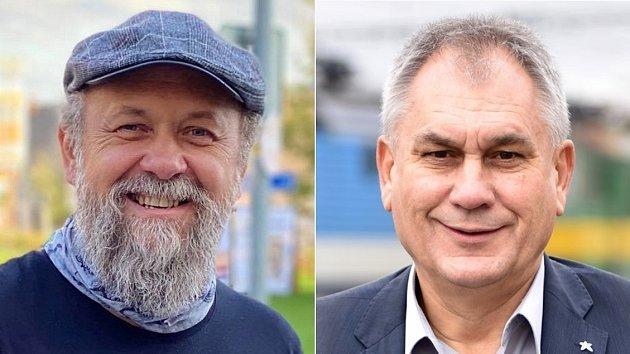 Obvod 66 - Olomouc - Marek Ošťádal (STAN) vlevo, Jan Zahradníček (ANO)