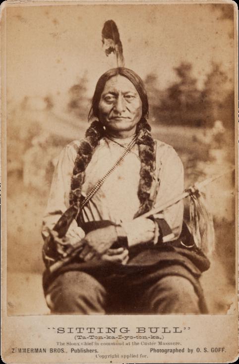 Náčelník Sedící býk na snímku z roku 1881
