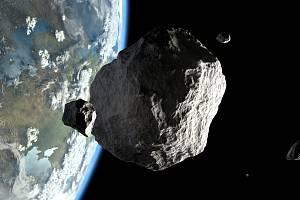 Asteroid - ilustrační foto.