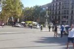 Barcelona, místo útoku