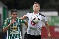 Zoran Gajič z Bohemians a Jan Pázler z Hradce Králové.