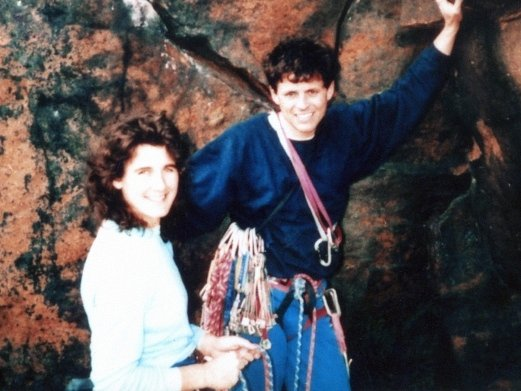 Horolezec Roger Payne s manželkou na snímku z roku 1993