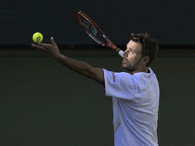Stanislas Wawrinka na Masters v Indian Wells.