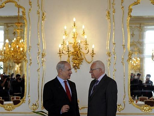 Prezident Václav Klaus přijal na Pražském hradě předsedu izraelské vlády Benjamina Netanjahua