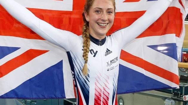 Cyklistka Laura Trottová