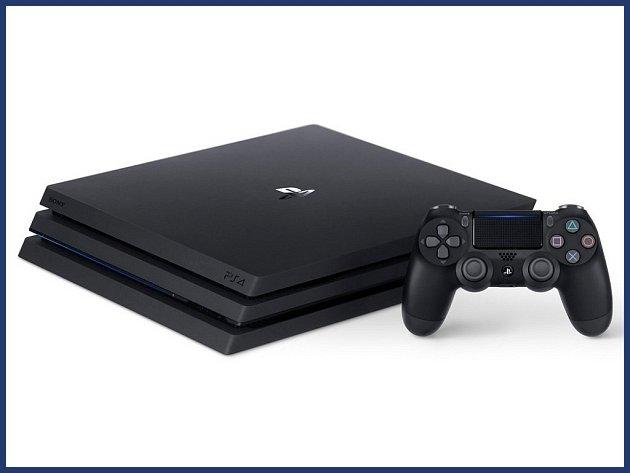 Herní konzole PlayStation 4 Pro.