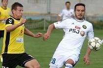 Získá jihlavský útočník Haris Harba (vpravo) premiérovou cenu pro nejlepšího hráče měsíce v Gambrinus lize?