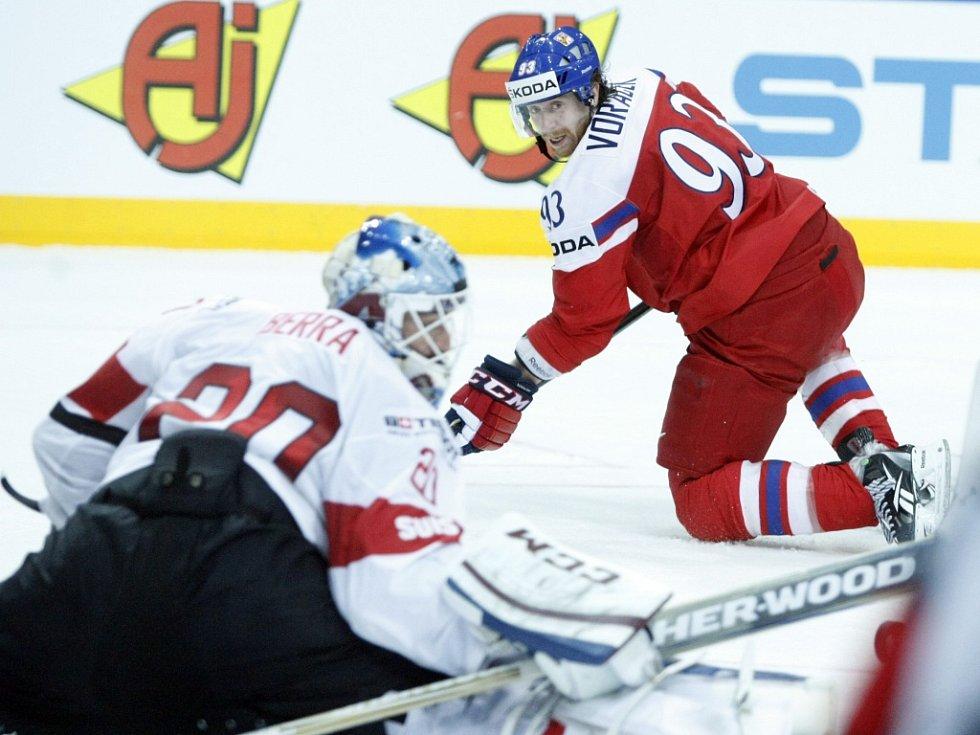 Jakub Voráček a jeho střela proti Švýcarsku.