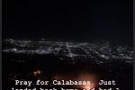 Před požárem musela uprchnout i americká celebrita Kim Kardashianová Westová