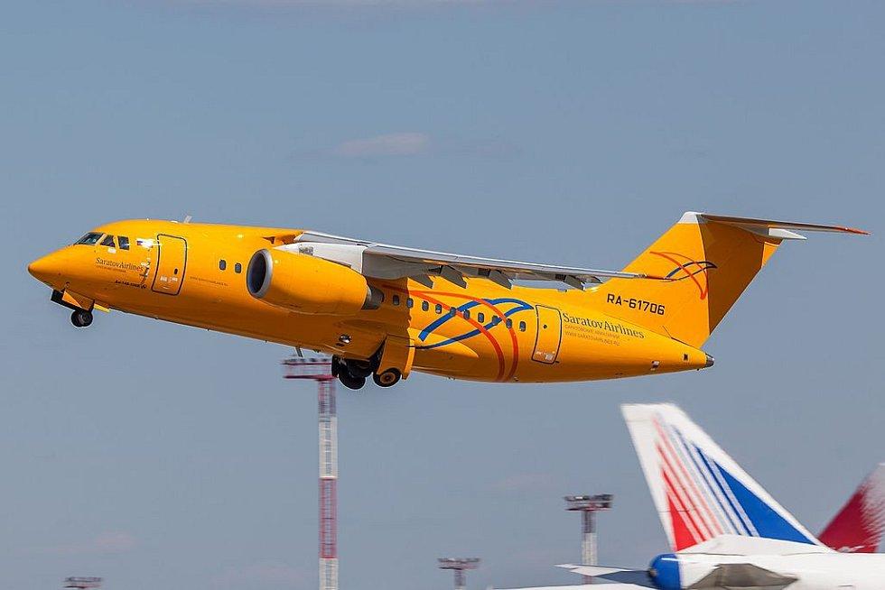 Letadlo Antonov An-148 ruské letecké společnosti Saratov