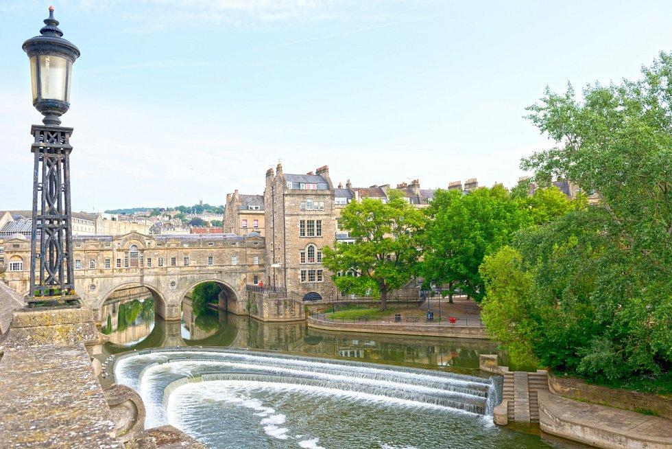 Britské lázně ve městě Bath