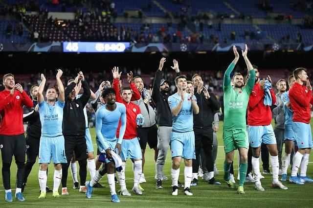 Utkání 4. kola základní skupiny F fotbalové Ligy mistrů FC Barcelona - Slavia Praha.