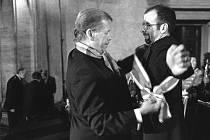 Václav Havel a Pavel Koutecký.