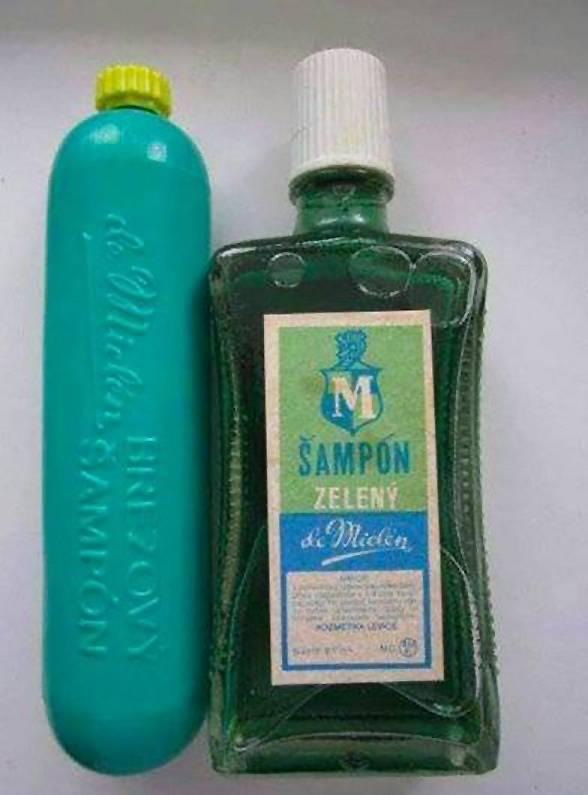 Normalizační krása - retro kosmetika. Šampon březový a zelený