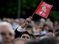 Na předvolebním mítinku bulharské Socialistické strany ve městě Plovdiv