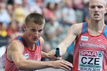 Patrik Šorm při štafetových závodech.