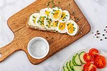 Rychlá večeře, chléb s vajíčkem