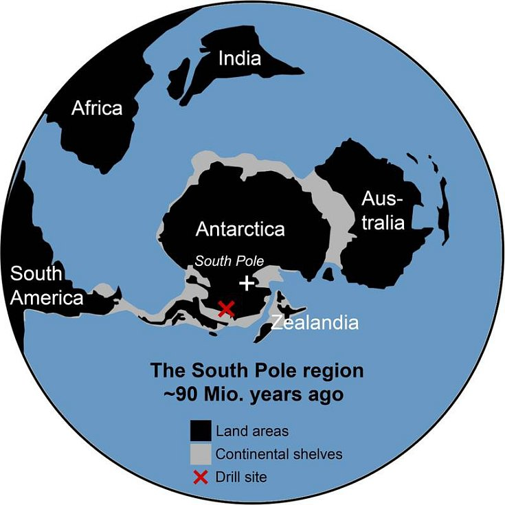 Šlo o jedno z nejteplejších období za dobu existence planety Země - před 90 miliony let