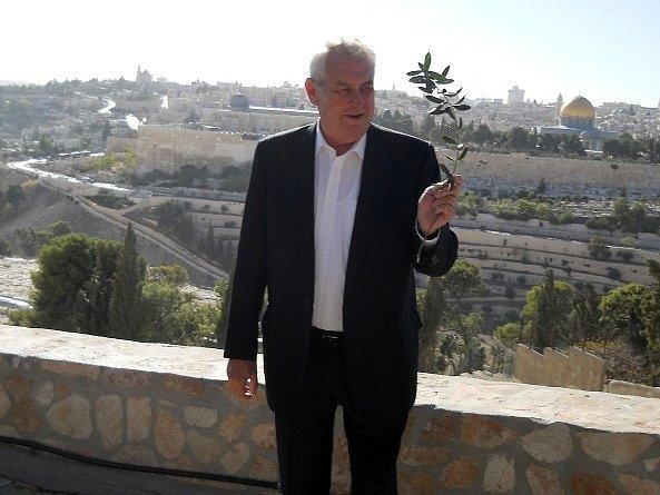Prezident Miloš Zeman v Jeruzalémě.