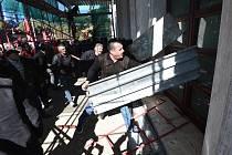 Protivládní demonstrace v albánské Tiraně