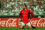 Eric Cantona v dobách své největší slávy v Manchesteru United.