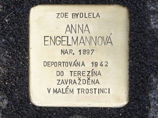 kámen v Olomouci - připomínka deportace Židů