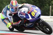 Jakub Kornfeil v tréninku na GP České republiky.