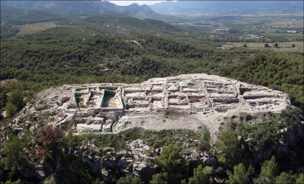 Pohled na naleziště La Almoloya z roku 2015