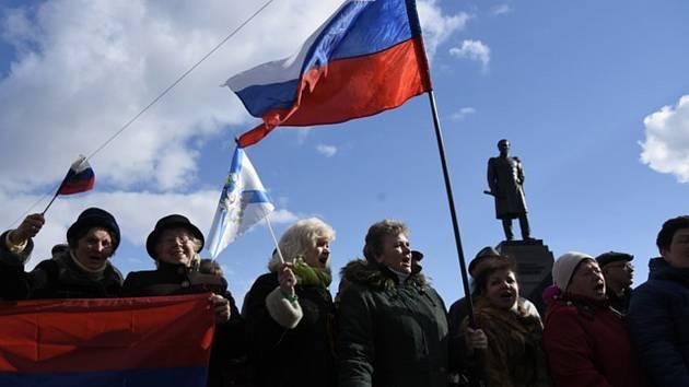 Ilustrační foto - Shromáždění v Sevastopolu u příležitosti výročí připojení Krymu k Rusku