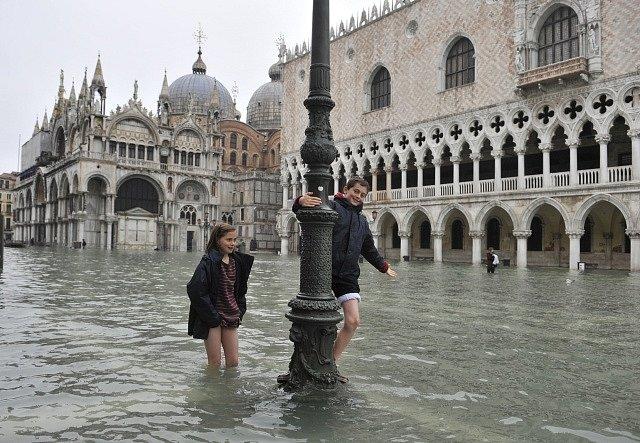 70 procent Benátek je pod vodou