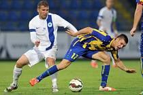 Liberec - Košice:  Tomáš Ďubek (vlevo) a Ľubomír Korijkov.