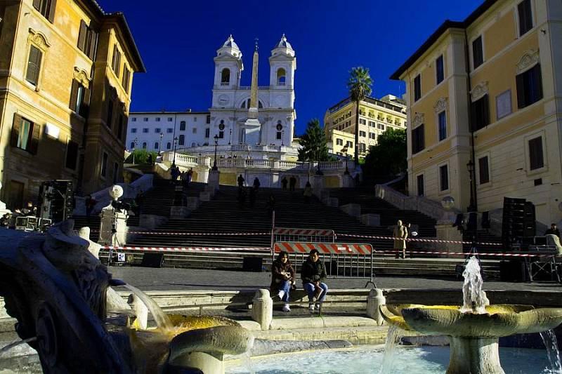 Španělské schody v Římě
