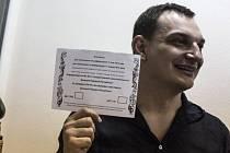 Roman Ljagin, šéf doněcké volební komise.