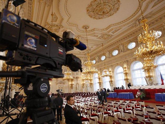 Příprava na prezidentskou volbu - Španělský sál Pražského hradu